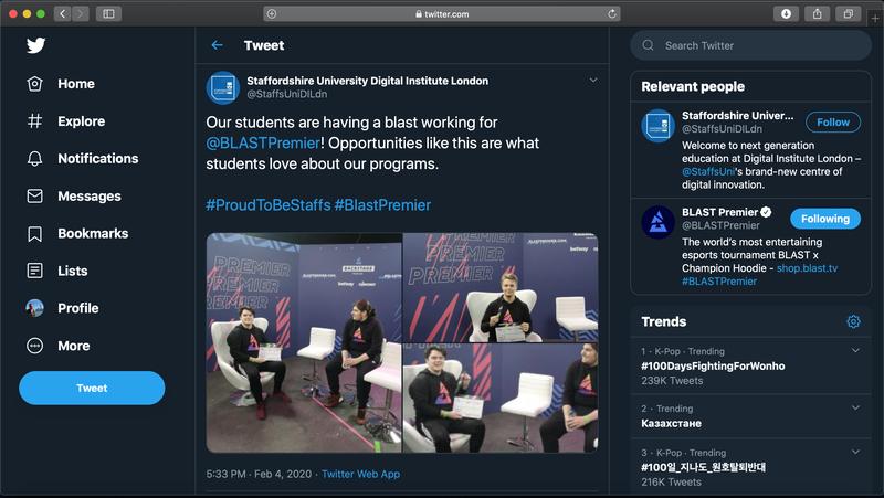 Пост университета в твиттере.