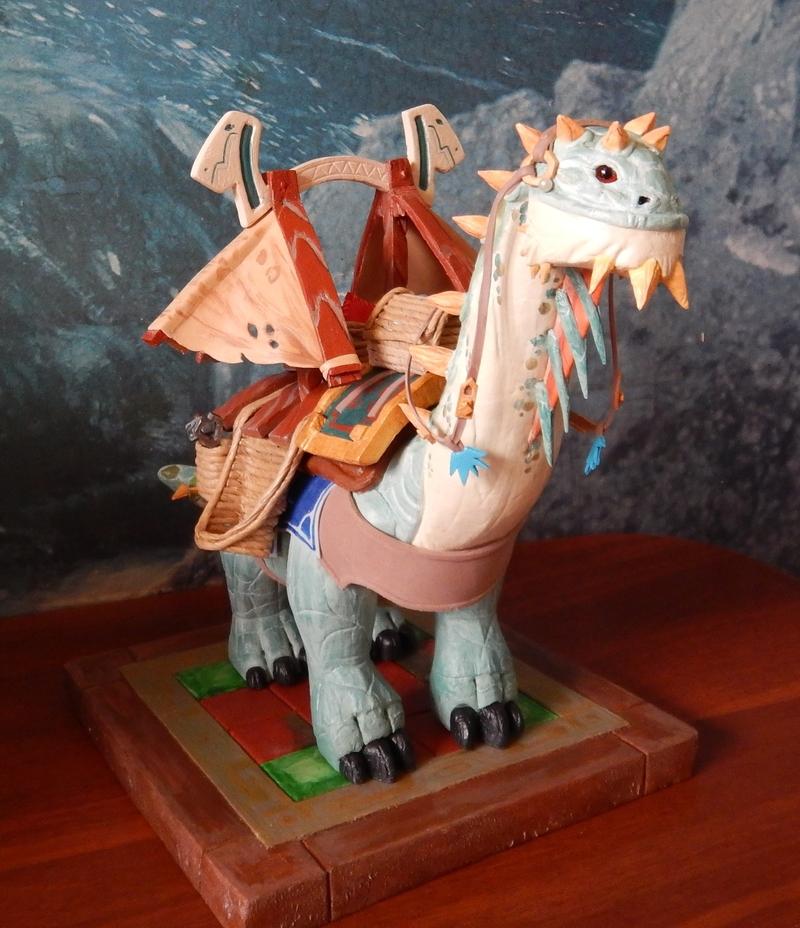 Статуэтка «Могучий вьючный брутозавр». Мастер: Наталья Варламова. Источник: vk.com/asunpaladin