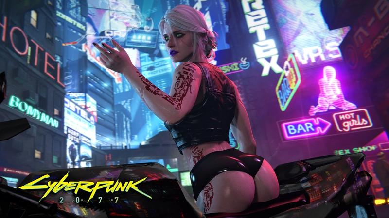 Цири из The Witcher 3 в стиле Cyberpunk 2077