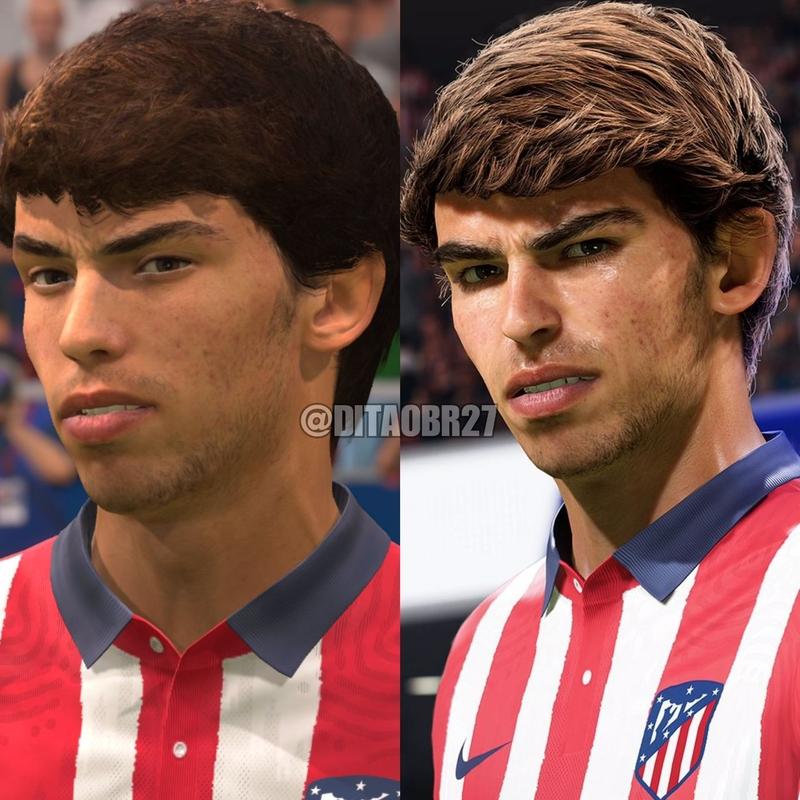 Жоао Феликс в FIFA 21 для PS4 (слева) и PS5
