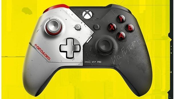 Беспроводной геймпад Xbox из ограниченной серии Cyberpunk 2077