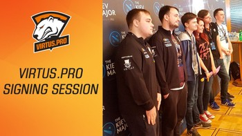 Virtus.pro at The Kiev Major: Signing session