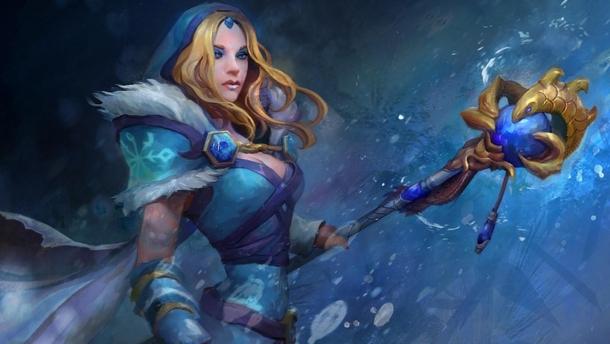 Crystal Maiden. Арт: Artifact
