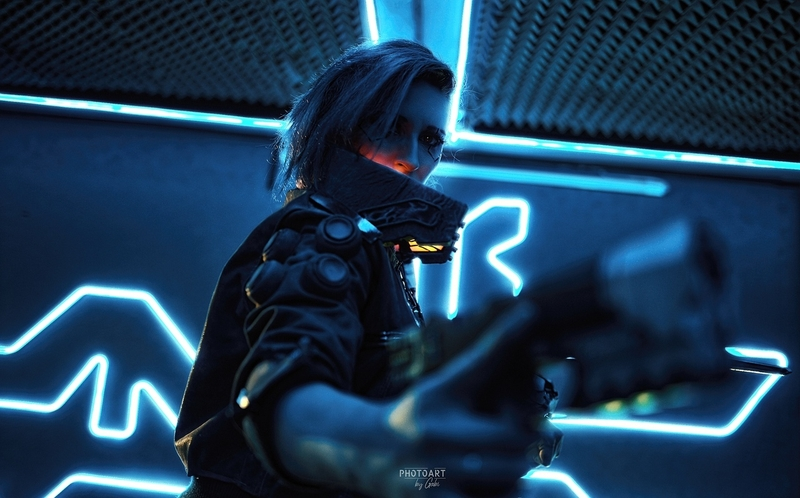 Косплей на Ви из Cyberpunk 2077. Косплеер: Анна Алексеева. Фотограф: Дмитрий Габдукаев. Источник: vk.com/brickus_cosplay