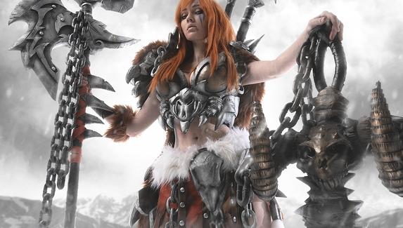 Невероятный косплей на варвара из Diablo III