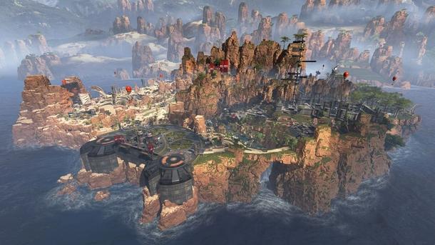 Взгляд на карту Apex Legends. Она гораздо меньше, чем в PUBG или Fortnite