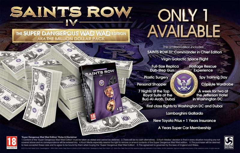 Saints Row IV The Super Dangerous Wad Wad Edition
