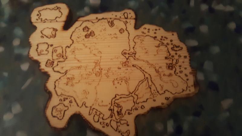 Столешница с картой Азерота. Источник: reddit