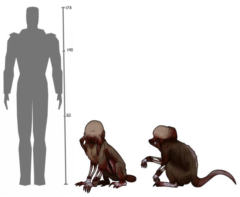 Концепт-арт зомби-обезьяны из Half-Life: Hostile Takeover Mod   Источник: moddb.com