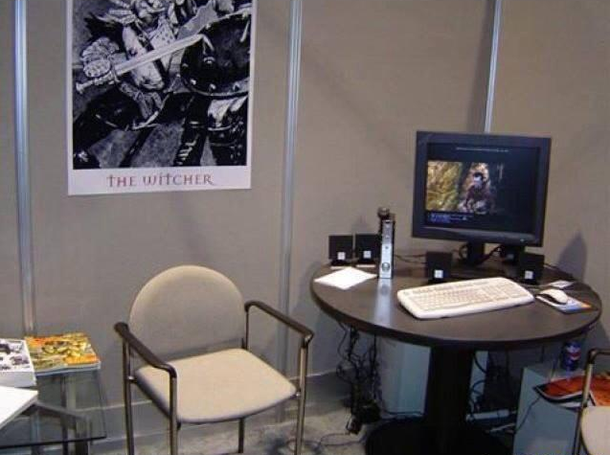 CD Projekt RED's first booth at E3 2004. Photo: CD Projekt RED