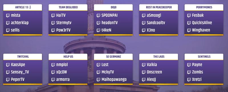 Участники финала TwitchCon Europe Showdown 2019