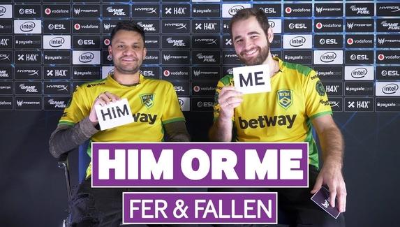 «Мы не рейджим». FalleN и fer сыграли в «Я или он»