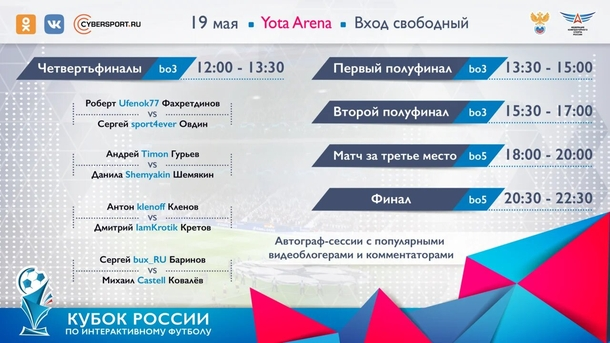 Расписание Кубка России