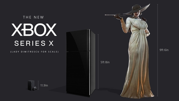 Xbox, холодильник и Леди Димитреску — необычное сравнение роста злодейки от Microsoft