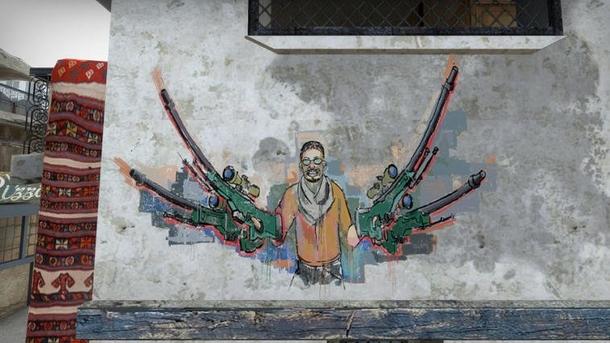 Легендарное граффити в честь Fnatic