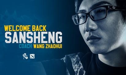 SanSheng снова стал тренером Newbee