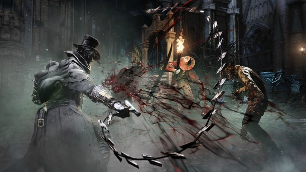Трость хлыст в игре Bloodborne