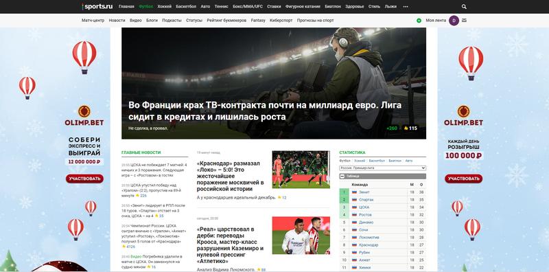 Главная Sports.ru