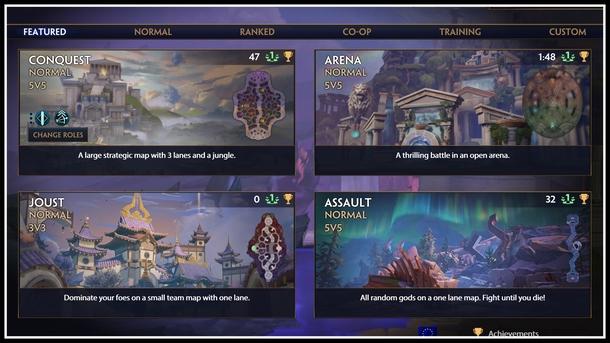 Режимы игры (не все), слева сверху находится Завоевание - основной режим игры