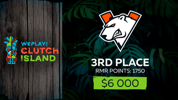 Virtus.pro takes 3rd place in WePlay! Clutch Island