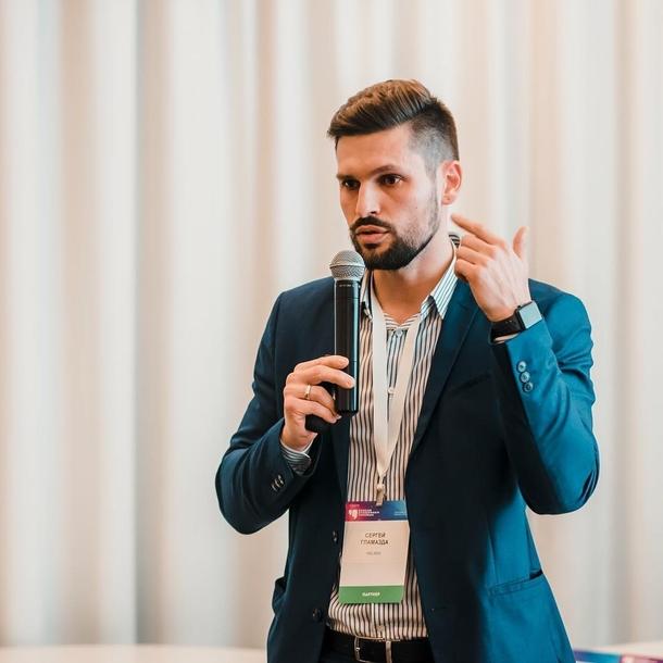 Сергей Гламазда на бизнес-конференции RSF. Фото: инстаграм Гламазды