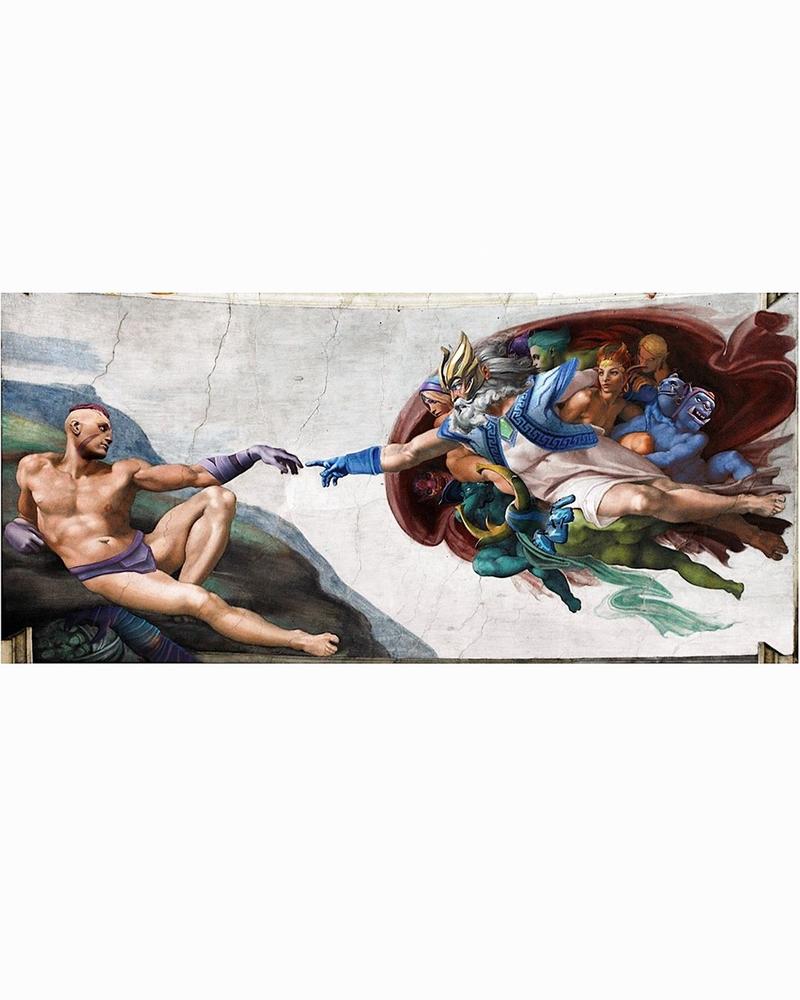 «Сотворение Адама» (Dota 2)