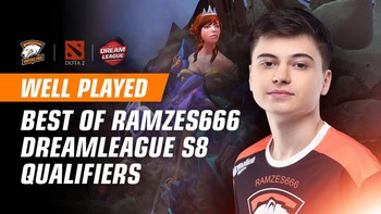 Triple rampage vs OG and RAMZES666 highlights in DreamLeague qualifiers