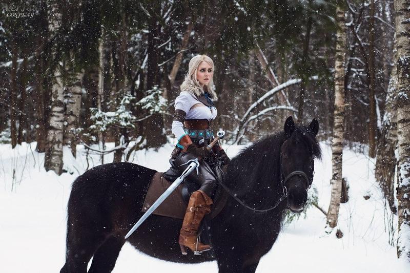 Косплей на Цири из The Witcher 3: Wild Hunt. Косплеер: Вера Зайцева. Фотограф: Наталья Варзина. Источник: https://vk.com/nova_cosplay