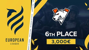 Virtus.pro takes 6th place in European League 2021 - Stage 1