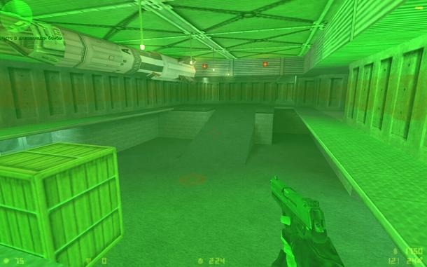 Так выглядела игра с прибором ночного видения