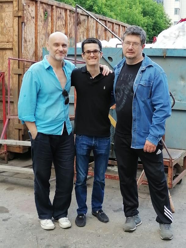 Святослав Чирков (слева), Всеволод Кузнецов (справа) и какой-то пацан (я)