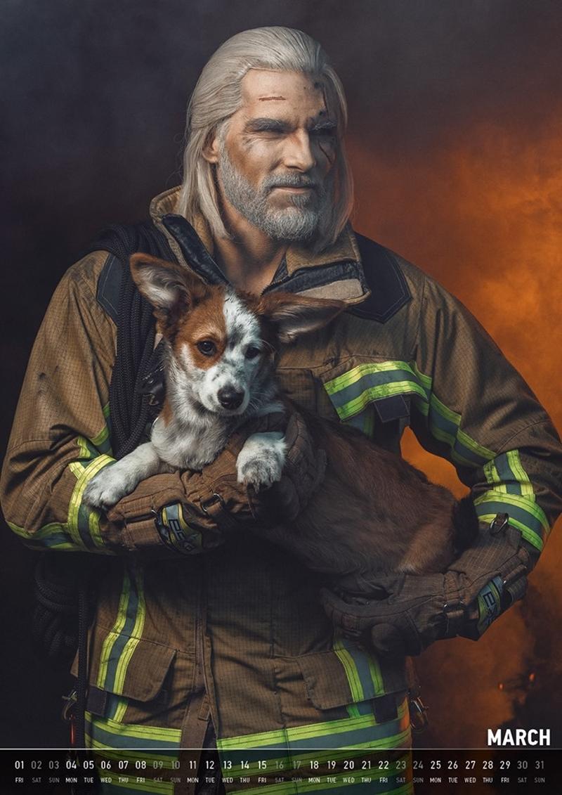 Геральт-пожарный. Источник: maul-cosplay.com