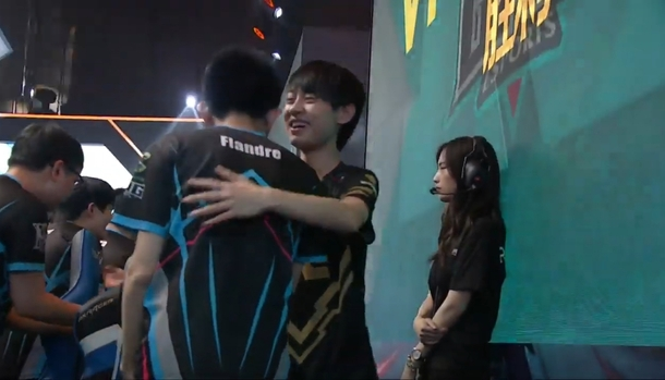 Frame from the last quarterfinal game.