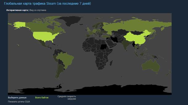 Статистика по загрузкам в Steam