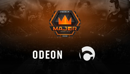 FACEIT partners with ODEON to bring the London Major to UK cinemas