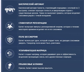Описание способностей нового персонажа в игре.