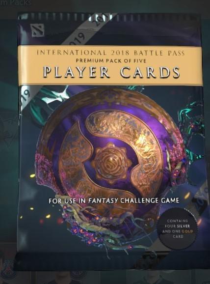 Набор карточек игроков в Battle Pass к TI9 с ошибкой
