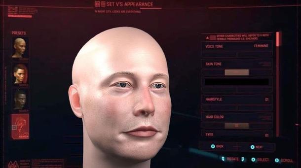 Fan version of Elon Musk in Cyberpunk 2077. Source: twitter