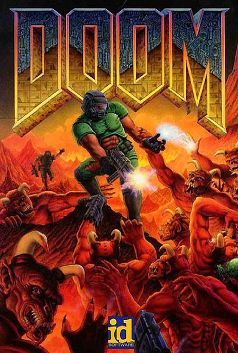Тот самый бокс-арт оригинальной Doom