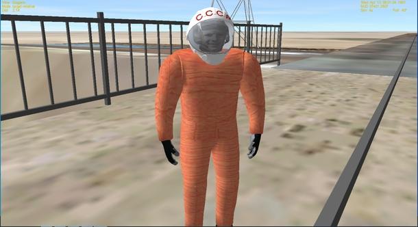 Так выглядит Юрий Гагарин в Orbiter 2010