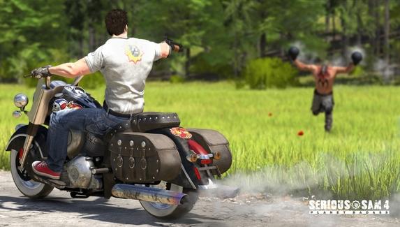Devolver Digital «пожертвовала» сотрудником, чтобы показать три секунды геймплея Serious Sam 4