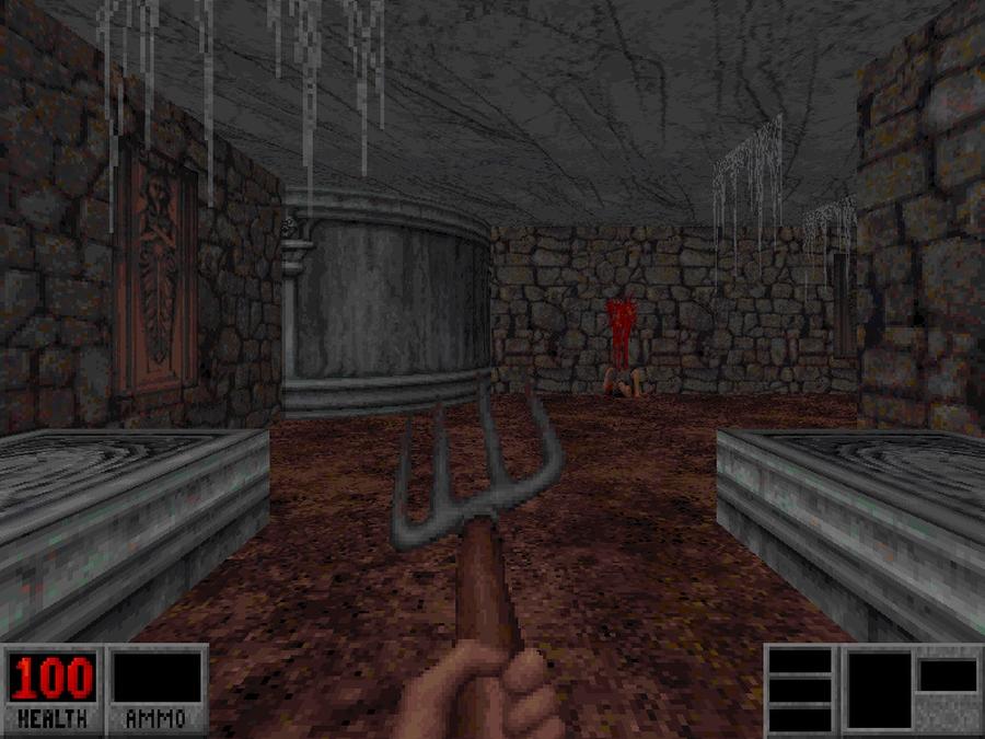 Автор Polygon на охоте. Скриншот: Blood