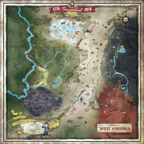Карта с отмеченными областями, где появятся лагеря NPC
