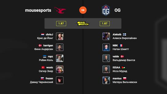 Мой прогноз на полуфинал mousesports – OG