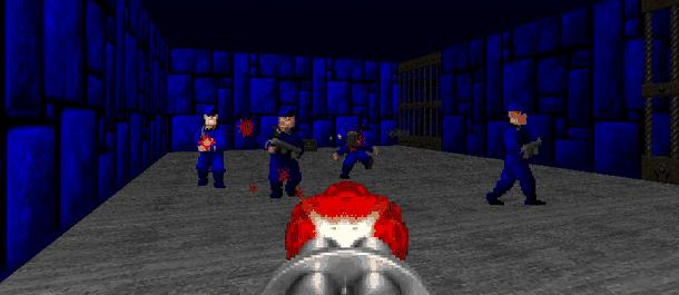 На каком уровне в Doom 2 можно попасть на секретную локацию в стиле Wolfenstein 3D?