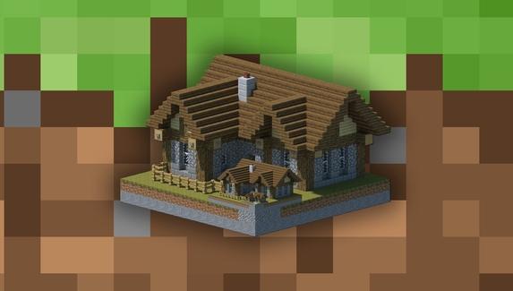 Игрок в Minecraft построил дом, который опускается под землю