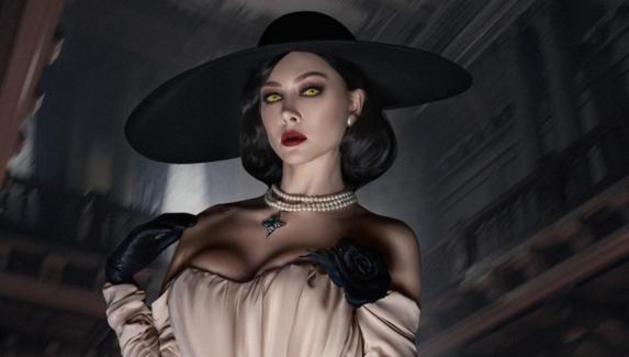 Косплей на Леди Димитреску от актрисы Настасьи Самбурской