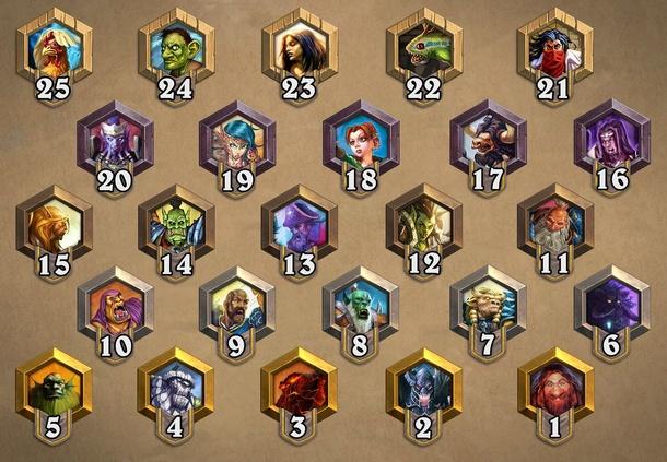 Основные 25 рангов в Hearthstone