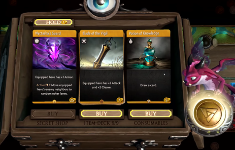 What's Hold in Artifact's shopping phase?