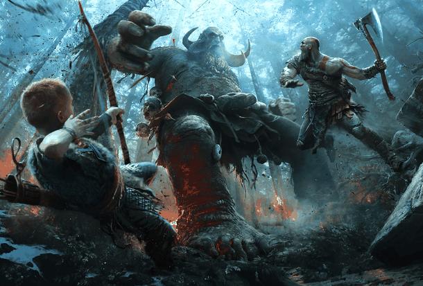 Официальный арт к God of War (2018)